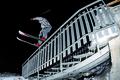 Picture night, winter, snow, ski, rail, freestyle