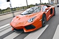 Picture aventador, lp700-4, Lamborghini, speed, aventador, road, lamborghini, speed, crosswalk, orange, road