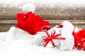 Picture New Year, snow, Santa, Merry, Christmas, hat, Christmas, decoration, winter