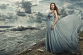 Picture model, The Work Holmes, clouds, bottle, dress, sea, the situation, wave