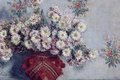 Picture flowers, picture, still life, Claude Monet, Vase with Chrysanthemums