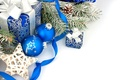 Picture New Year, gifts, decoration, blue, balls, gift, Christmas, New Year, Christmas, balls, decoration