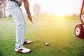 Picture grass, golf, golf club, golfers, white ball
