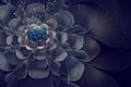 Picture flower, mesh, petals, art