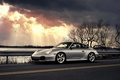 Picture car, clouds, Porsche, porsche 911 carrera