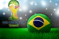 Picture the ball, football, Brazil, 2014, World Cup, world Cup, football, flag, Brasil, FIFA