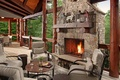 Picture living spae, interior, fireplace, wooden