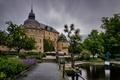 Picture park, bridge, Park, the bridge, pond, Castle, castle, pond
