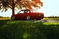 Picture red, BMW, BMW, profile, red, E30, The 3 series