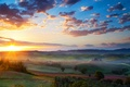 Picture valley, field, landscape, sunset