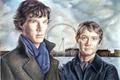 Picture the series, art, Martin Freeman, Sherlock, bbc, Sherlock Holmes, Benedict Cumberbatch, John Watson