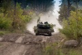 Picture road, tank, forest