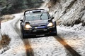 Picture Ford, Rally, Lights, Auto, Race, The front, Fiesta, WRC, Winter, Road, Sport, Ford, Snow, Rally
