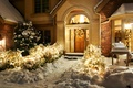 Picture winter, snow, night, nature, lights, lights, house, holiday, Windows, windows, decoration, house, architecture, Happy New ...