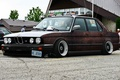 Picture BMW, rust, Parking, low, stance works, old auto