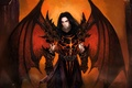 Picture wings, the demon, art, armor, guy