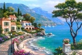 Picture picture, Sung Kim, mountains, painting, painting, the city, sea, yachts