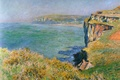 Picture landscape, picture, Claude Monet, Rock in Granule