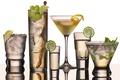 Picture fruit, martini, glass