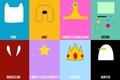 Picture Jake, Adventure Time, Finn, Marceline, Gunter, Ice King, Lumpy Space Princess, Princess Bubblegum, Beemo