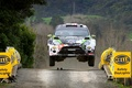 Picture Ford, Machine, Lights, Auto, Ken Block, The front, Fiesta, In The Air, Fiesta, Speed, Rally, ...