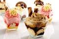 Picture ice cream, sweets, ice cream, caramel, strawberry, food, dessert