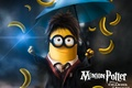 Picture fantasy, school uniform, yellow, umbrella, movie, Harry Potter, funny, glasses, film, Minions, bananas, Minion, parody, ...