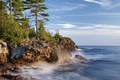 Picture pine, coast, The Algoma, Great lakes, Canada, lake, Ontario, Great Lakes, Lake Superior, Algoma District, ...