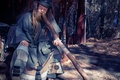 Picture hat, wind instrument, beard, man, didgeridoo, dreadlocks