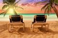 Picture palm trees, paradise, shore, beach, beach, sea, sand, sea, sand, shore, tropical, the sun, sun ...