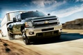 Picture the sky, the steppe, speed, Chevrolet, the trailer
