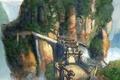 Picture bridge, rocks, home, gate, Heavenly Sword, gorge