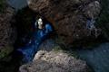 Picture water, girl, stones, mermaid