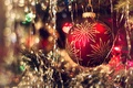 Picture bokeh, tree, ball, New year