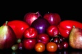 Picture Apple, drain, fruit, vegetables, tomato, cherry, bow