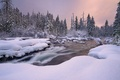 Picture ate, winter, snow, nature, river, landscape, sunset