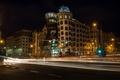 Picture night, lights, Prague, Czech Republic, the dancing house