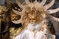Picture Venice, gold, white, mask, costumes, black, photo, carnival