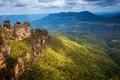 Picture Blue, Mountain, Australia, parks, crag, natuee.
