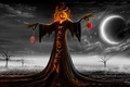 Picture the moon, pumpkin, holiday, Halloween, night, halloween, the inscription