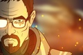 Picture fan art, gordon freeman, cartoon, Half-Life
