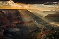 Picture clouds, light, canyon, the sky, rocks, USA