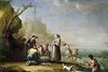 Picture landscape, picture, genre, Fishermen, Mariano Salvador Maella