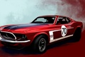 Picture red, figure, Mustang, Ford, Boss 302