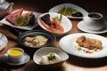 Picture meals, watermelon, cuts, kiwi, vegetables, dessert, shrimp, meat, soup