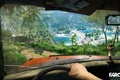 Picture palm trees, Far cry, green, houses, game, island, doll, trees, sand, sea, car, machine, grass, ...