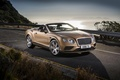 Picture road, car, coast, Bentley, the evening, 2016, machine, Convertible, Continental GT