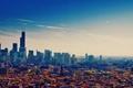 Picture Chicago, skyscrapers, megapolis, illinois, Chicago, the sky, autumn, USA