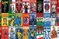 Picture football, National, collage, athletes, teams, Brasil 2014