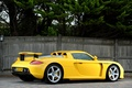 Picture Porsche, Carrera GT, rear view, Carrera GT, supercar, Porsche, yellow
